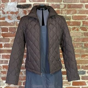 Kenneth Cole Reaction Brown Down Puffer Jacket M